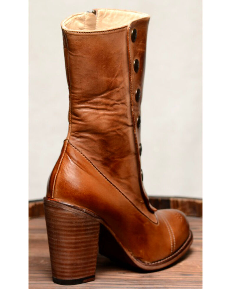 Oak Tree Farms Tan Amelia Rustic Boots - Round Toe, Tan, hi-res