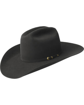 Bailey Men's Gage 10X Fur Felt Cowboy Hat, Black, hi-res