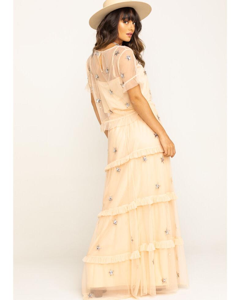 Show Me Your Mumu Women's Theadora Star Maxi Skirt , Pink, hi-res