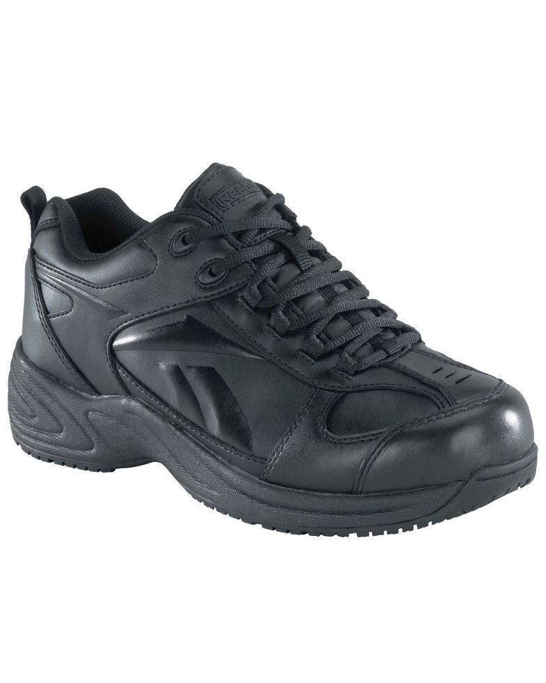 Reebok Men's Street Sport Jogger Oxford Work Shoes, Black, hi-res