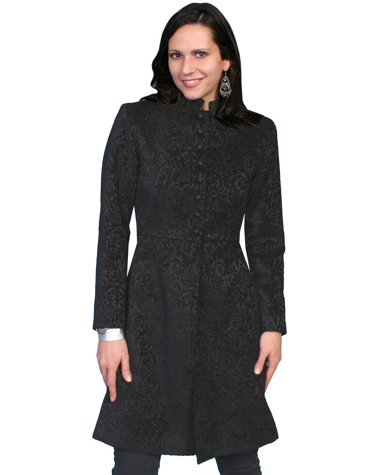 WahMaker by Scully Old West Chenille Heritage Coat, Black, hi-res