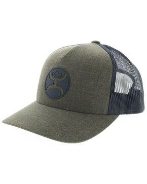 HOOey Men's Moss Logo Trucker Cap, Olive, hi-res