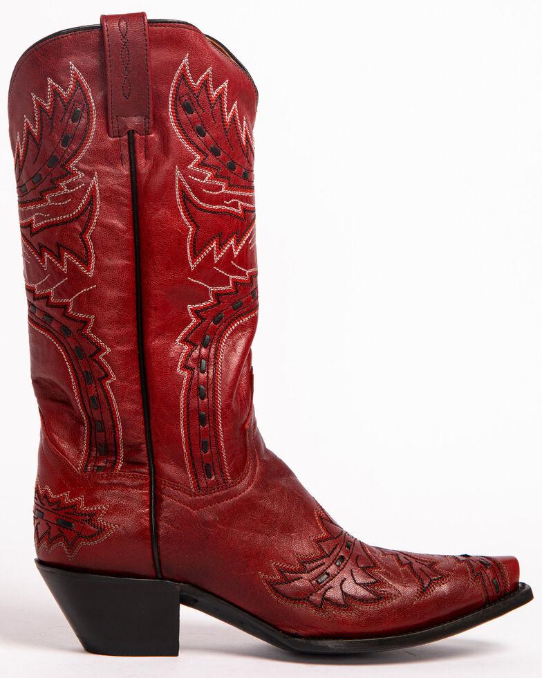 Dan Post Women's Sidewinder Western Boots, Red, hi-res
