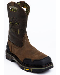 Cody James Men's Decimator Western Work Boots - Composite Toe, Brown, hi-res