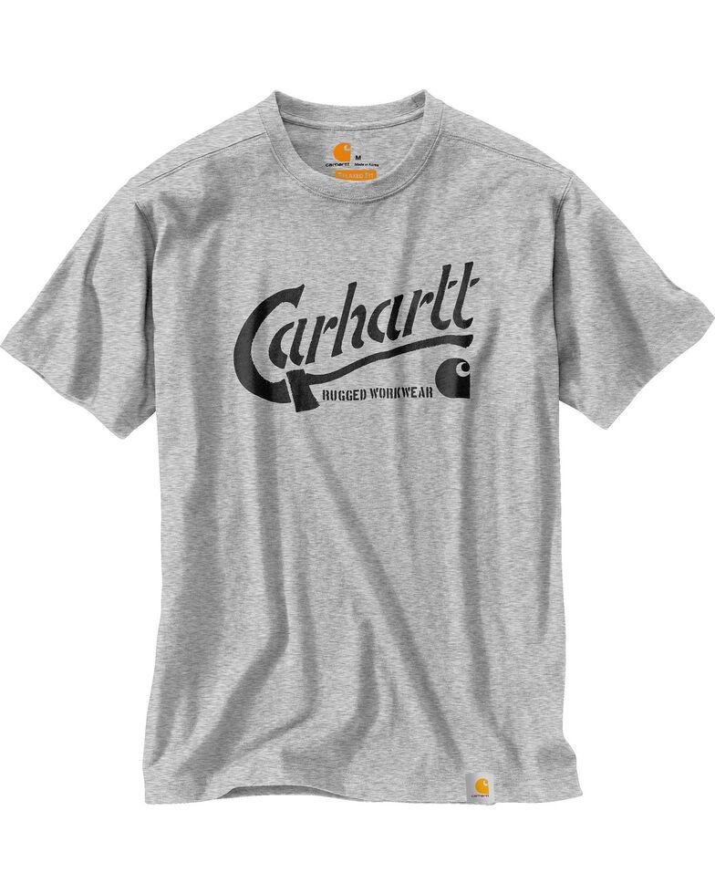 7db85d70 Carhartt Men's Maddock Graphic Ax Short Sleeve Tee , Heather Grey, hi-res