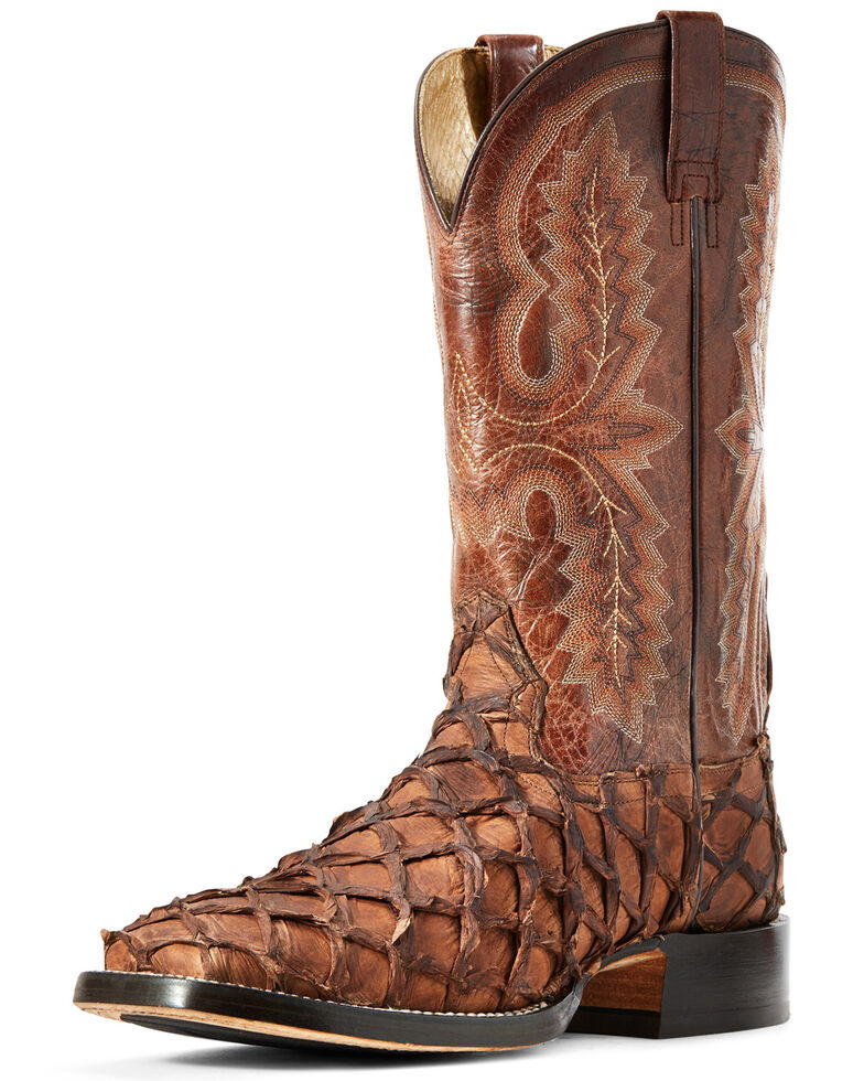 Ariat Men's Deep Water Cafe Big Bass Adobe Tile Western Boots - Wide Square Toe, Brown, hi-res