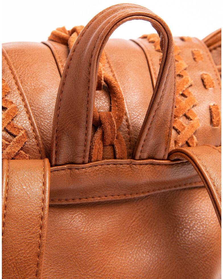 Shyanne Women's Fringe Backpack, Brown, hi-res