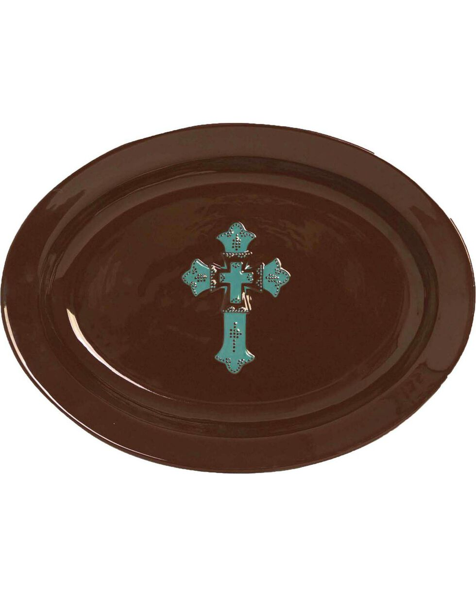 HiEnd Accents Cross Serving Platter, Brown, hi-res
