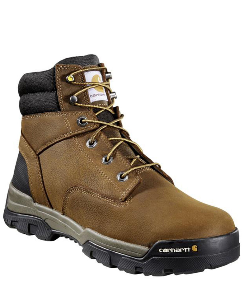 Carhartt Men's Ground Force Waterproof Work Boots - Soft Toe, Brown, hi-res
