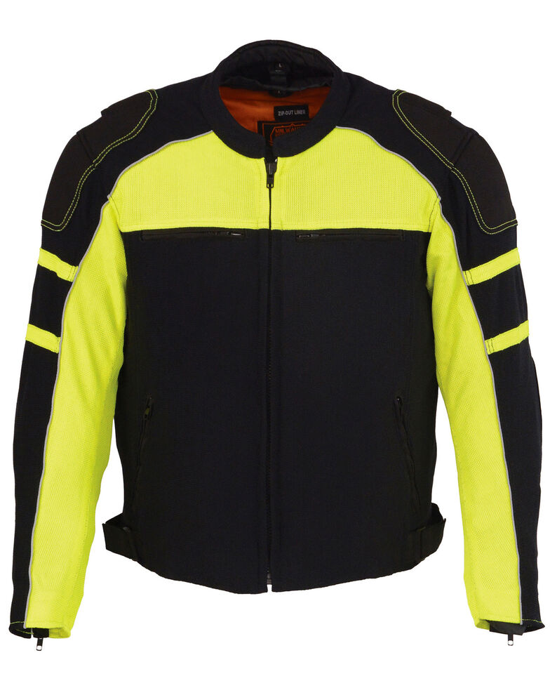 Milwaukee Leather Men's Mesh Racing Jacket with Removable Rain Jacket Liner - 4X, , hi-res