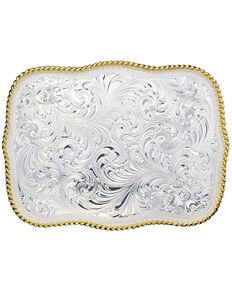 Montana Silversmiths Large Rectangular Engraved Buckle, Multi, hi-res