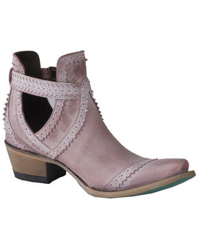 Lane Women's Blush Cahoots Western Booties - Snip Toe, Pink, hi-res