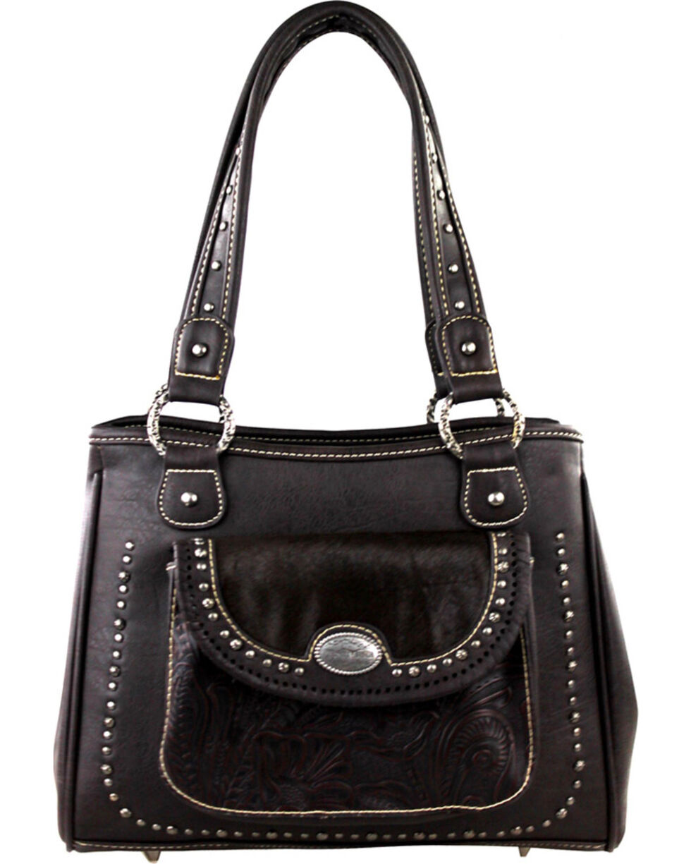 Montana West Trinity Ranch Concealed Handgun Collection Handbag with front Pocket, , hi-res