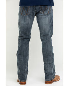 Wrangler Retro Men's Gunter Grey Tint Stretch Slim Bootcut Jeans , Blue, hi-res