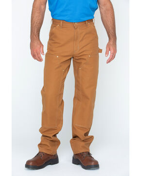 Carhartt Double Duck Dungaree Fit Khaki Work Jeans, Brown, hi-res