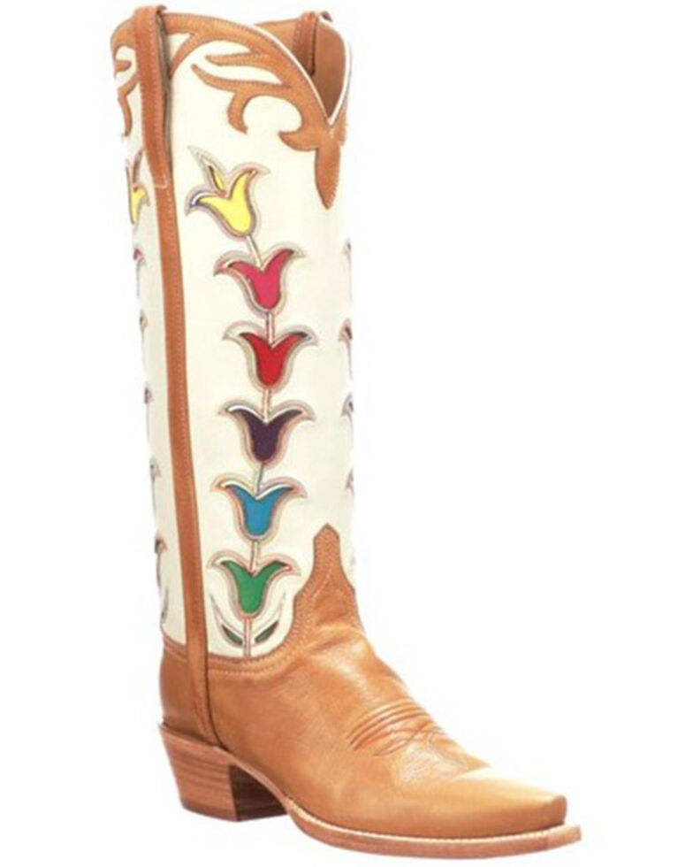 Lucchese Women's Tall Tulip Western Boots - Sniip Toe, Rust Copper, hi-res