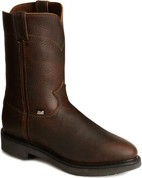 Justin Men's Work Boots, Tobacco, hi-res