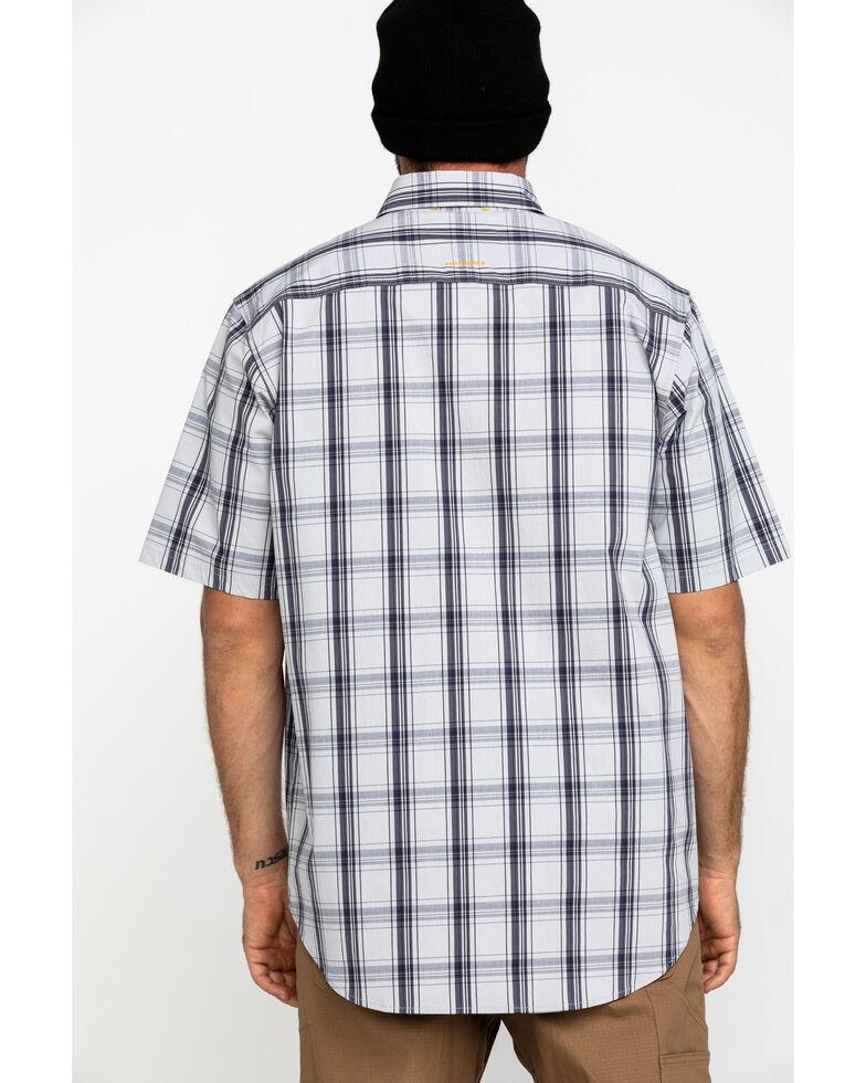 Ariat Men's Grey Plaid Rebar Made Tough Short Sleeve Work Shirt - Big , Dark Grey, hi-res