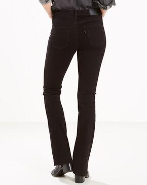 Levi's Women's Black Slimming Mid-Rise Jeans - Boot Cut , Black, hi-res