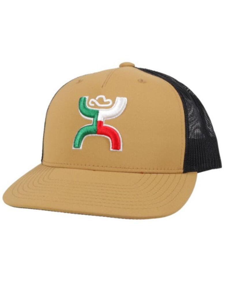 HOOey Men's Tan & Black Boquillas Embroidered Logo Mesh-Back Ball Cap , Tan, hi-res