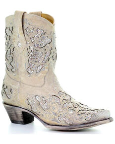 d45ce11ae Corral Women's Metallic Glitter Inlay & Crystal Boots - Snip Toe