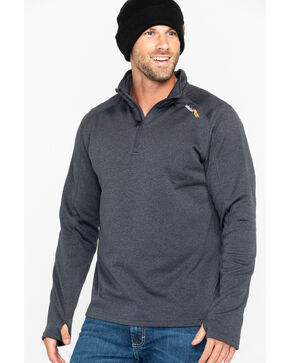 Timberland Men's Solid Understory 1/4 Zip Fleece Work Pullover, Charcoal, hi-res