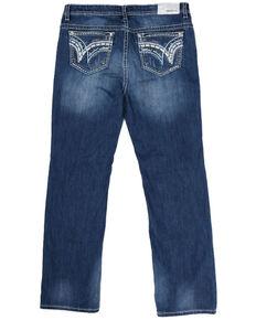 Grace in LA Women's Plus Size Straight Leg Jeans, Blue, hi-res
