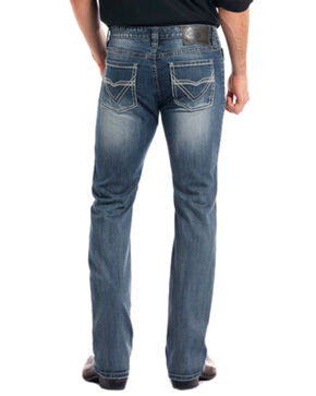 Rock & Roll Cowboy Men's Reflex Revolver Medium Vintage Wash Slim Straight Leg Jeans, Medium Blue, hi-res