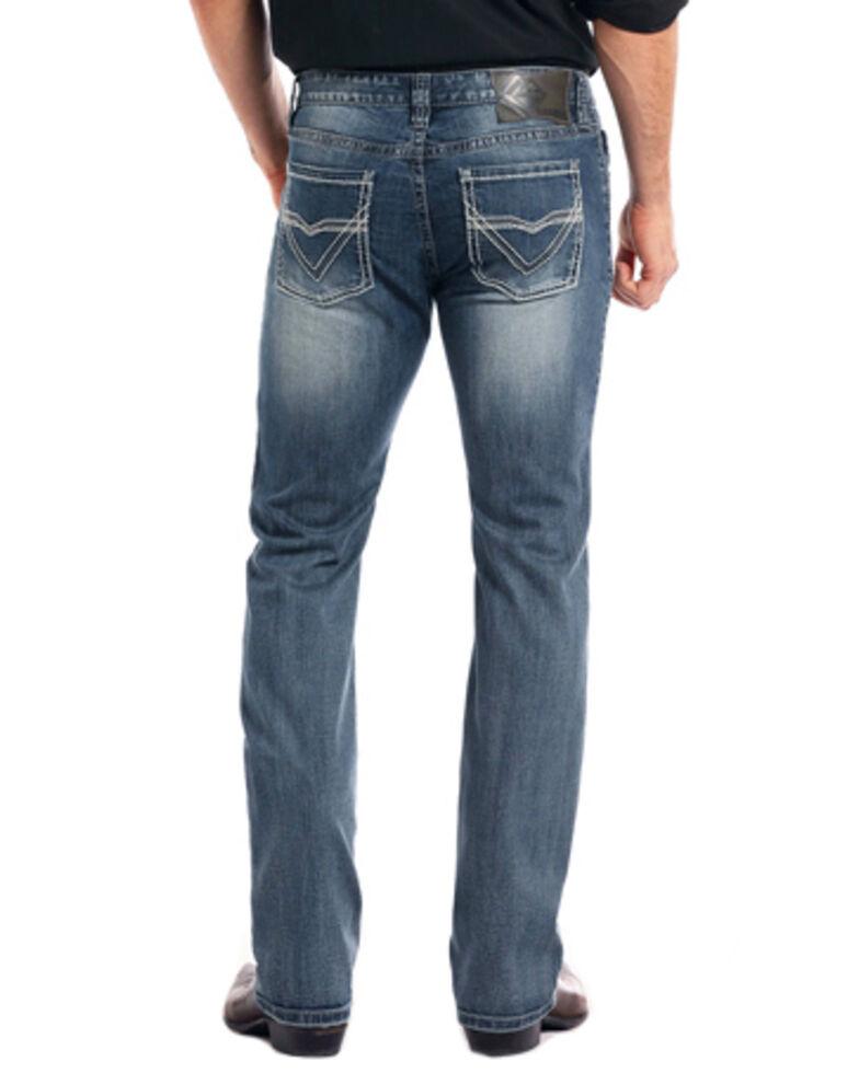 Rock & Roll Cowboy Men's Reflex Revolver Medium Vintage Wash Slim Straight Leg Jeans, Medium Blue, hi-res