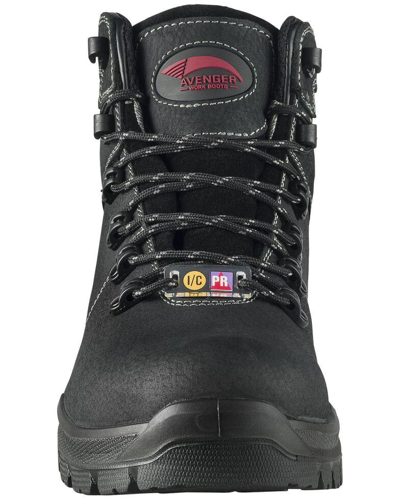 Avenger Men's Black Foundation Work Boots - Composite Toe, Black, hi-res