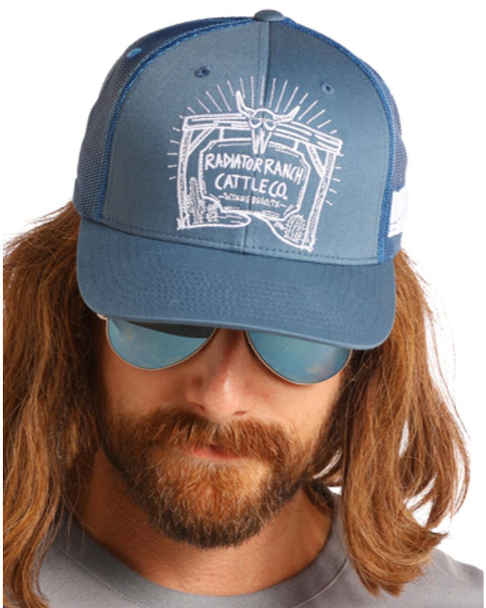 Dale Brisby Men's Radiator Ranch Trucker Hat, Blue, hi-res