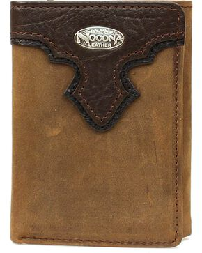 Nocona Men's Tri-fold Leather Wallet, Brown, hi-res