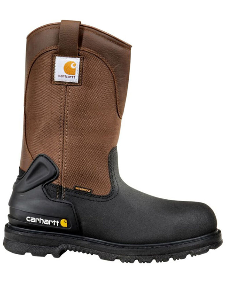 "Carhartt 11"" Insulated Brown Work Boots - Composite Toe, Brown, hi-res"