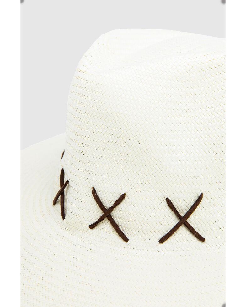 Ale' by Alessandra Women's Veracruz Fine Panama Rancher Straw Hat , Ivory, hi-res