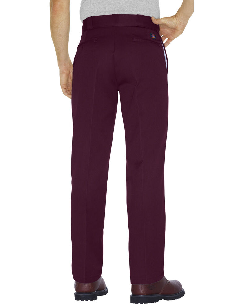 Dickies Men's Original 874® Maroon Work Pants, Maroon, hi-res