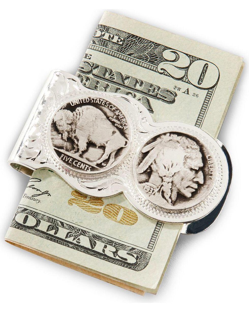 Montana Silversmiths Men's Buffalo Indian Nickel Money Clip, Silver, hi-res