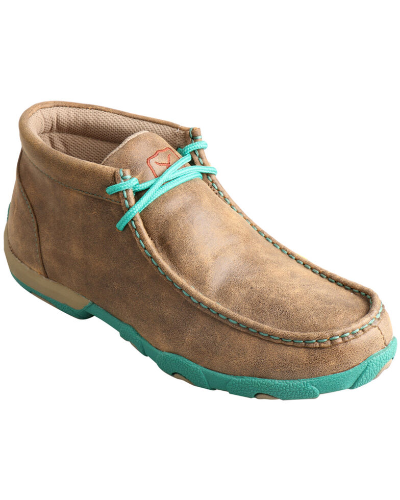 Twisted X Women's Turquoise Accented Driving Mocs, Bomber, hi-res