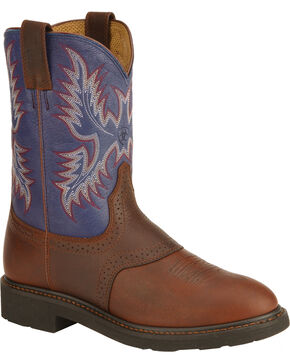 Ariat Sierra Saddle Vamp Work Boots - Soft Toe, Redwood, hi-res