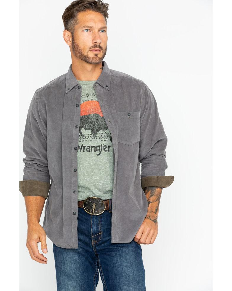 North River Men's Solid Corduroy Shirt , Grey, hi-res