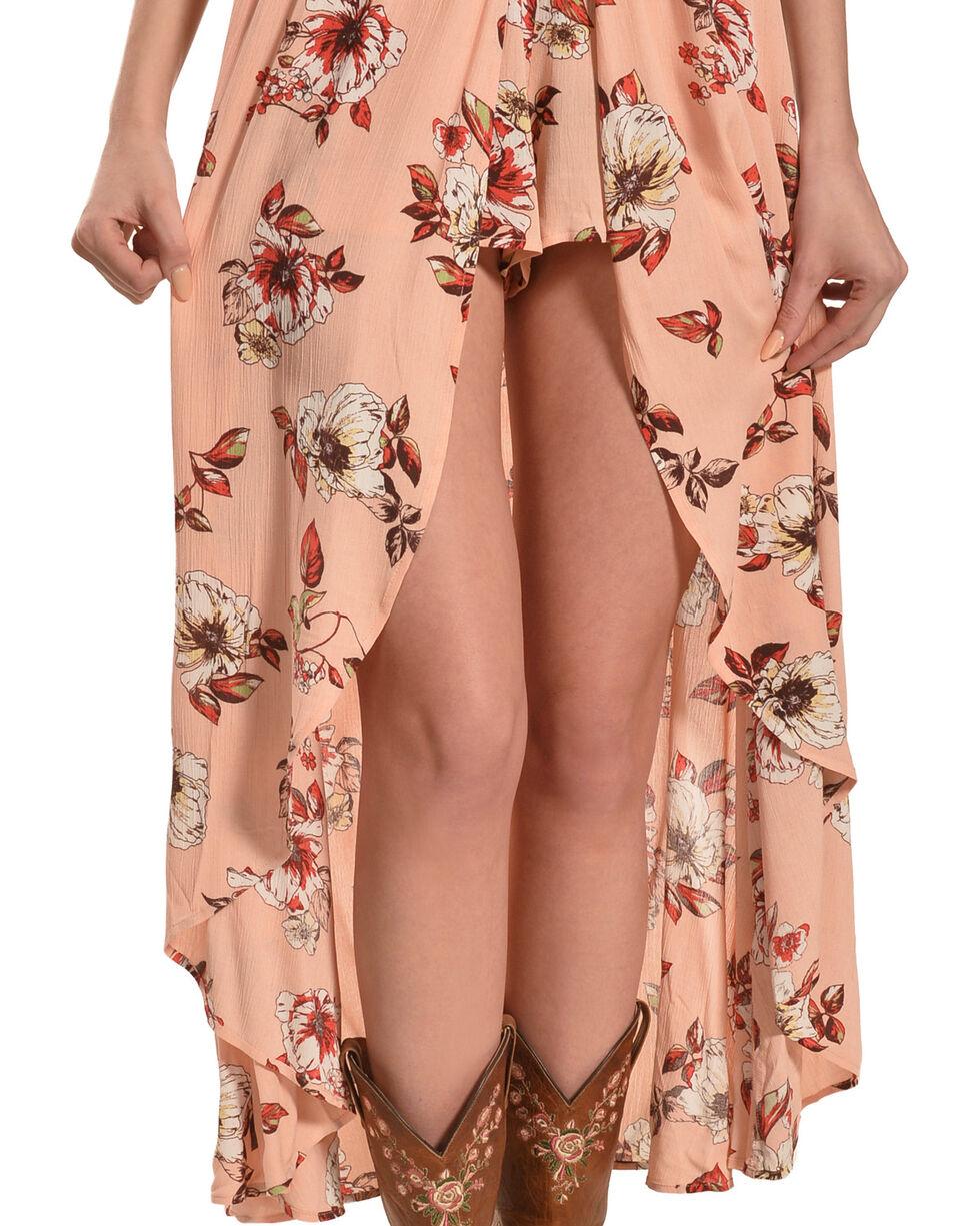 HYFVE Women's Floral Halter Neck Maxi Dress, Peach, hi-res