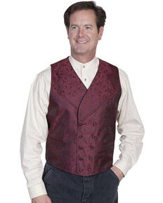 Rangewear by Scully Wide Notched Lapel Vest - Big Sizes (3XL - 4XL), Burgundy, hi-res