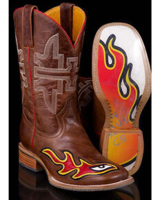 Tin Haul Men's Stink Eye Western Boots, Brown, hi-res