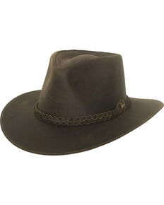 7f3d802180a Bullhide Men s Duluth Leather Outback Hat