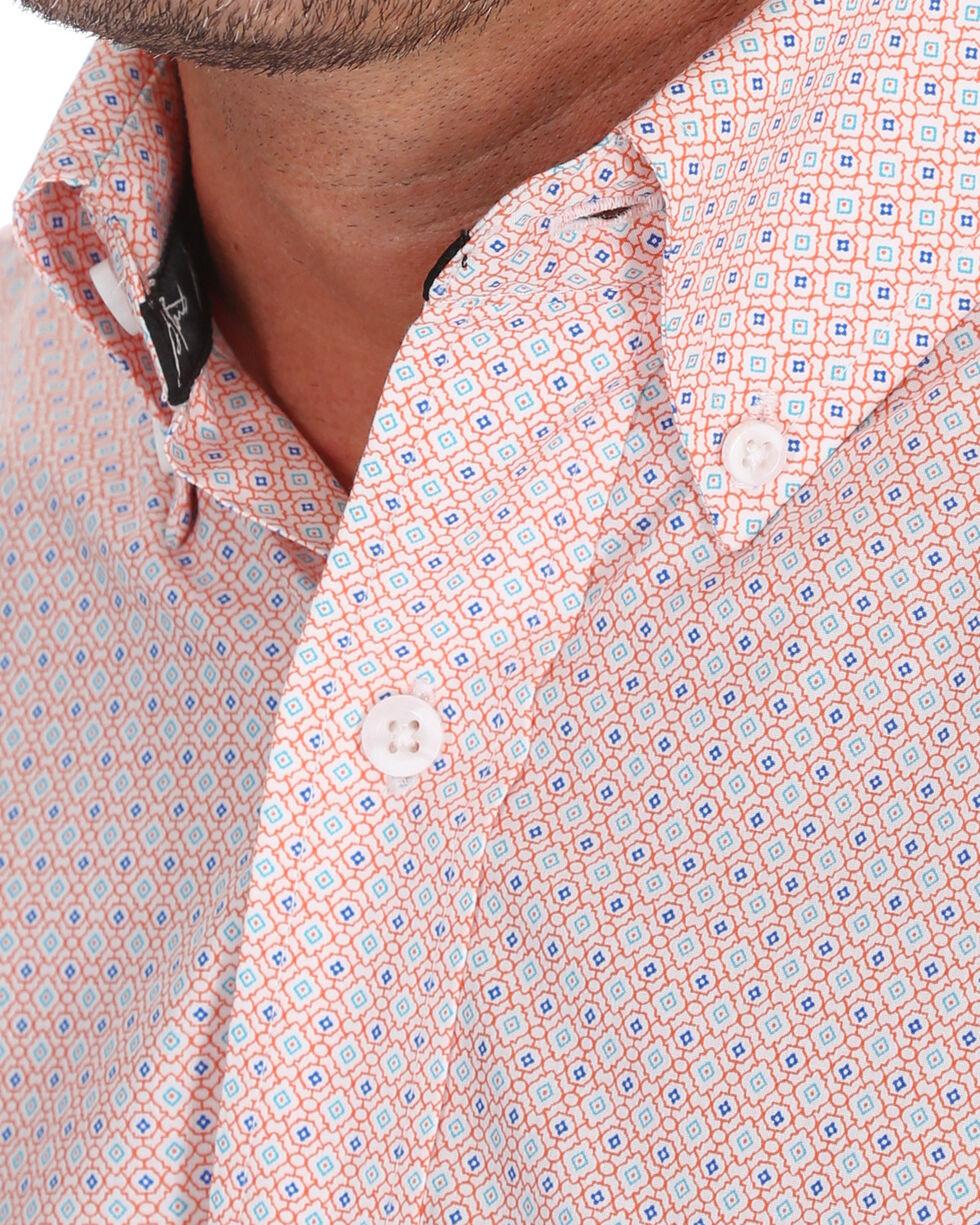 Wrangler Men's Light Orange George Strait Print Shirt , Orange, hi-res