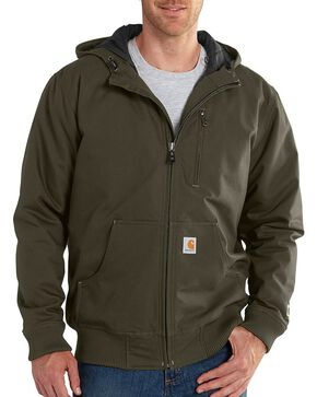 Carhartt Men's Quick Duck Jefferson Active Jacket, Olive Green, hi-res