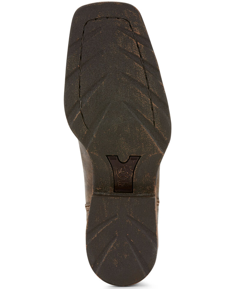 Ariat Men's Rambler Antiqued Cowboy Boots - Square Toe, Brown, hi-res