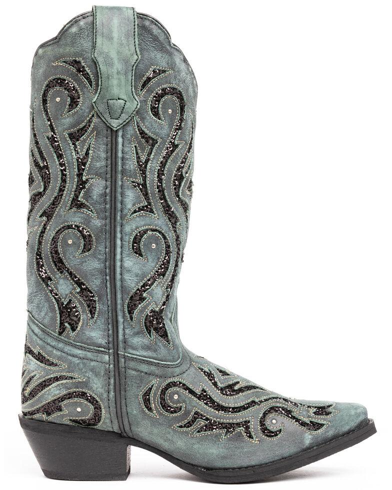 Laredo Women's Wild Thang Western Boots - Snip Toe, Turquoise, hi-res