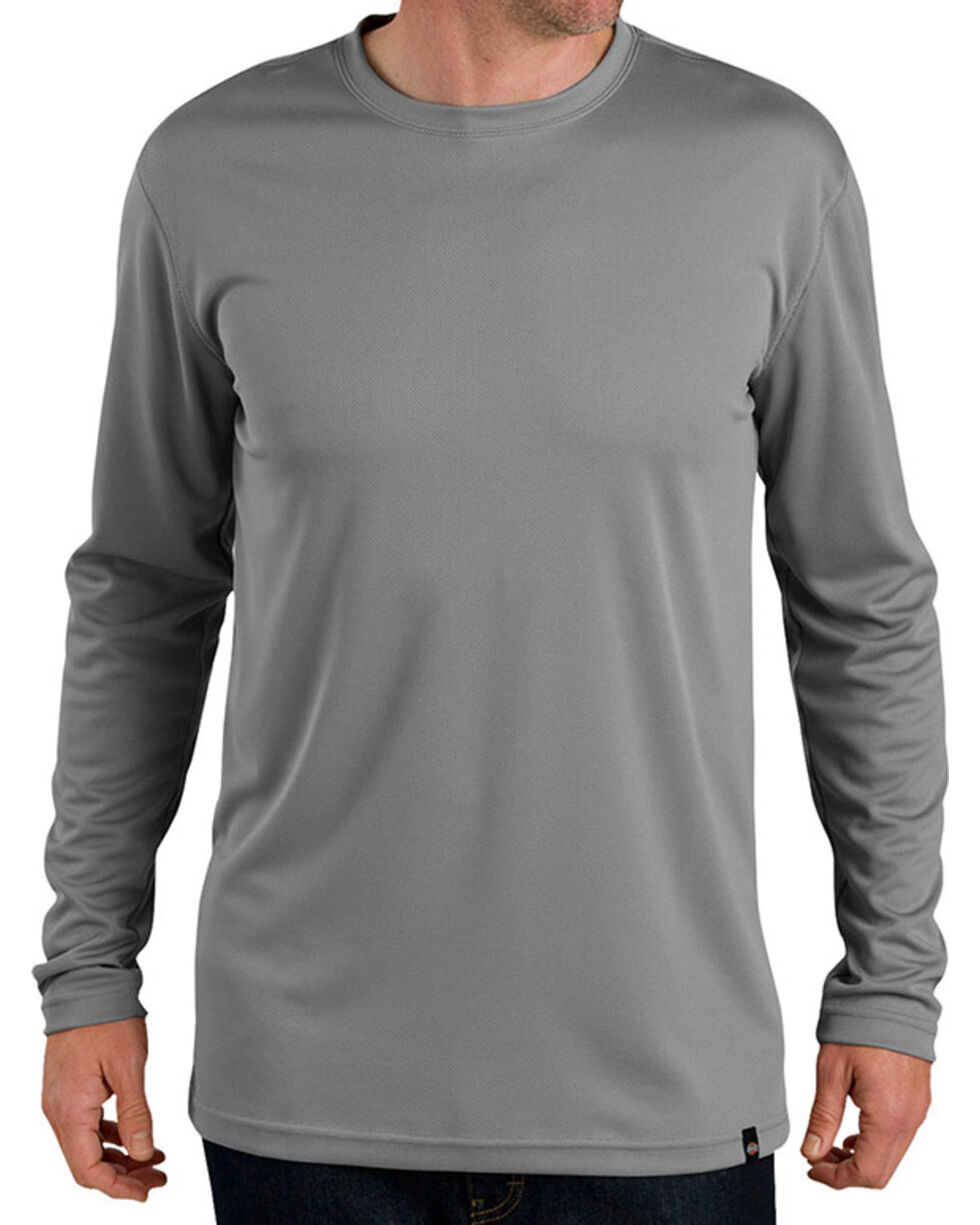 Dickies Pro Men's Long Sleeve Coolcore Tee, Grey, hi-res