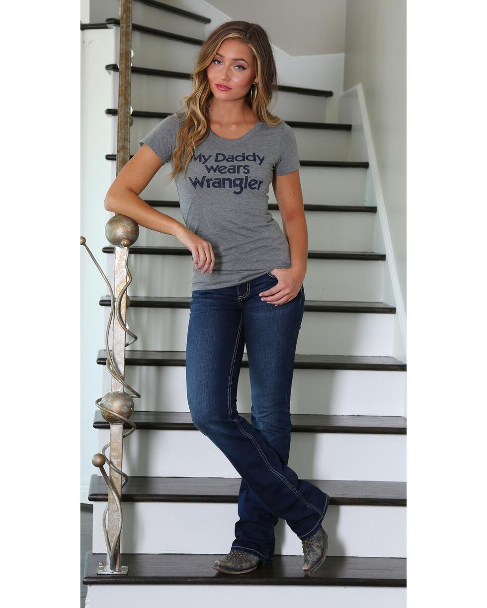 Wrangler Women's Short Sleeve Graphic Tee, Grey, hi-res