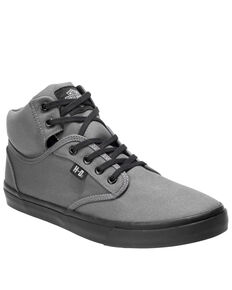 Harley Davidson Men's Wrenford Moto Shoes, Grey, hi-res